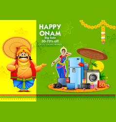 king mahabali on advertisement and promotion vector image