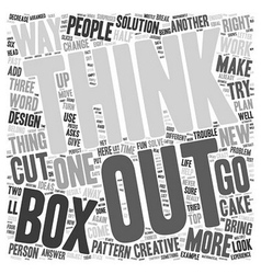 Learn to think outside the box dlvy nicheblower vector