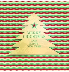luxury background with Christmas Tree vector image