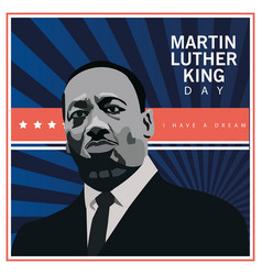 Martin luther king character celebration day and vector