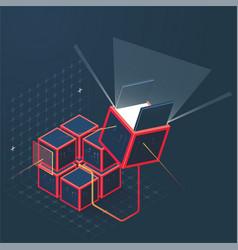 Math cube vector