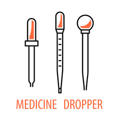 Medicine dropper logo vector