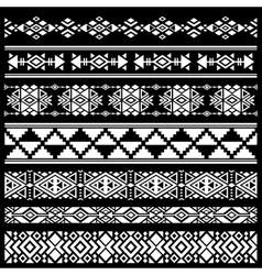 Mexican american tribal art decor brushes vector