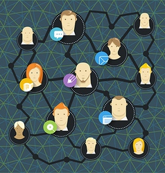 Modern social media network concept vector