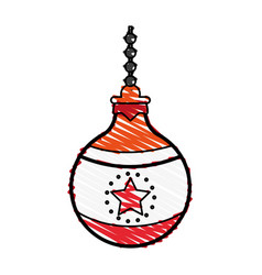 ornamental ball icon image vector image