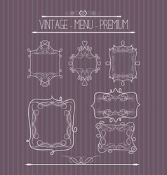 Ornate and doodle callgraphic frames vector image