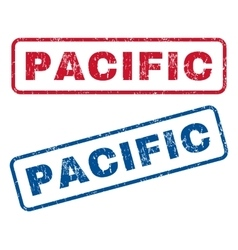 Pacific rubber stamps vector