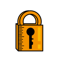 Padlock security system image vector