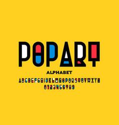 pop art style font vector image