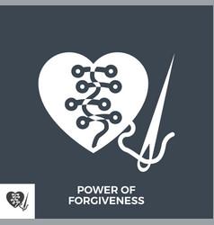Power forgiveness glyph icon vector