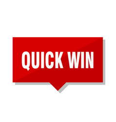 Quick win red tag vector