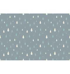 Rain seamless pattern foggy cold autumn day vector