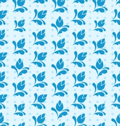 Seamless Pattern with Floral Elements Blue vector image