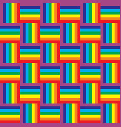 Seamless rainbow pattern vector