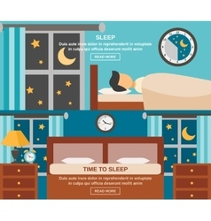 Sleep Time Banner vector image