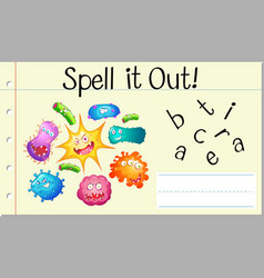 spell english word bacteria vector image