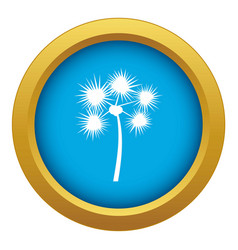Spiny tropical palm tree icon blue isolated vector