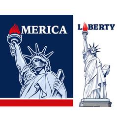 Statue of liberty nyc usa symbol vector