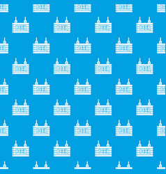 street signboard of beer pattern seamless blue vector image