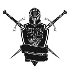 sword shield and helmet 0002 vector image