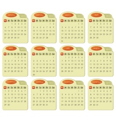 Tabbed 2013 Calendar vector