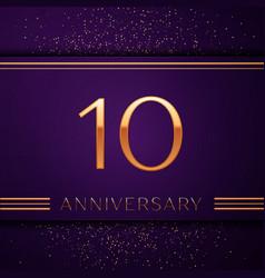 Ten years anniversary celebration design banner vector