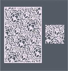The template pattern for decorative panel3 vector