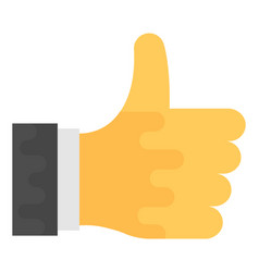 Thumbs up flat icon vector