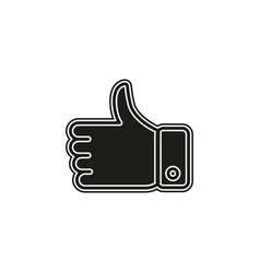 thumbs up icon like symbol for social network vector image