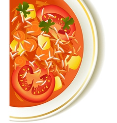 Tomato soup vector image