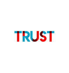 Trust template design vector