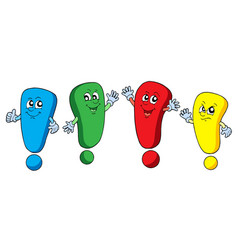 various color exclamations vector image