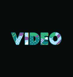Video concept word art vector