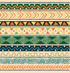 wild ethnic african art background pattern vector image