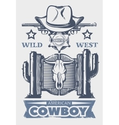 Wild West Print vector image