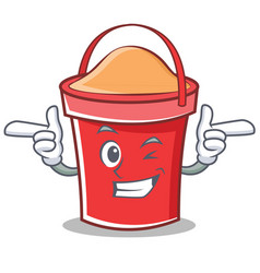 Wink bucket character cartoon style vector