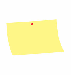yellow post-it vector image