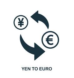 yen to euro icon mobile app printing web site vector image