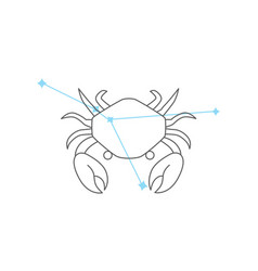 zodiac signs cancer line icon simple element vector image