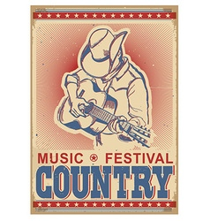 American music festival background with musician vector image vector image