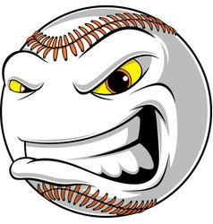 angry ball for baseball vector image