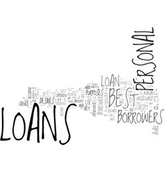 best personal loans in uk a bouquet of the best vector image vector image