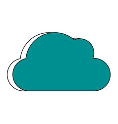 cloud unlocked padlock vector image vector image