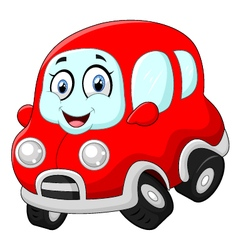 Funny red car vector