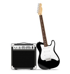 guitar with amp vector image vector image