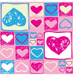 Valentine seamless pattern2 vector image vector image
