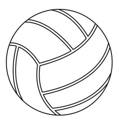 volleyball ball icon outline style vector image