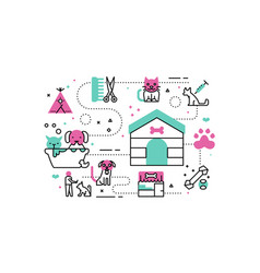 animal shelter vector image vector image