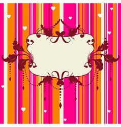 Bright romantic background vector image