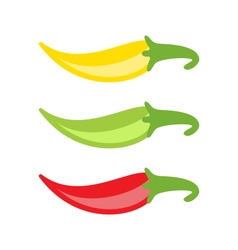 Colorful Chilli Peppers Isolated vector image vector image